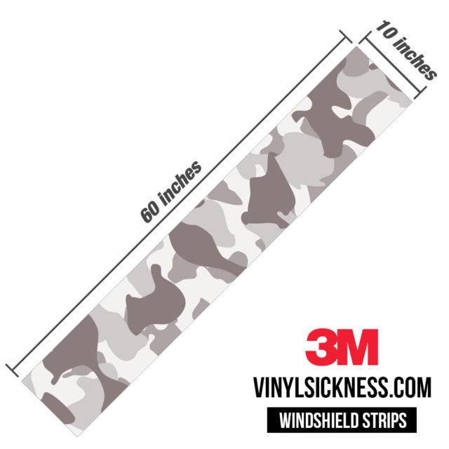Smokey Taupe Camo Windshield Sun Strip Dimension
