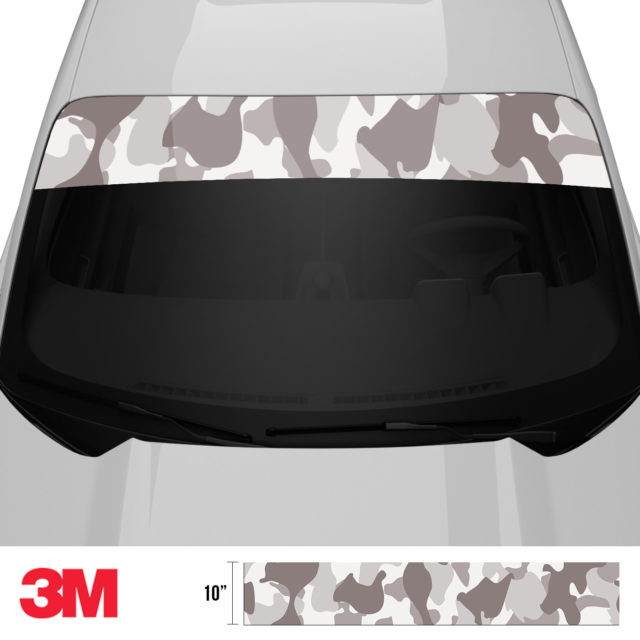 Smokey Taupe Camo Windshield Sun Strip Front 2