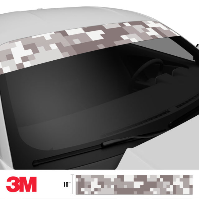 Smokey Taupe Digital Camo Windshield Sun Strip Side 2