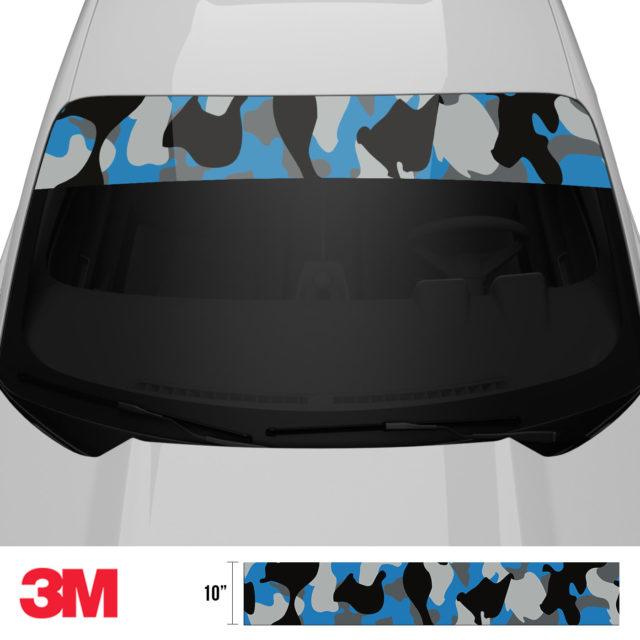 Steel Blue Windshield Sun Strip Front 2