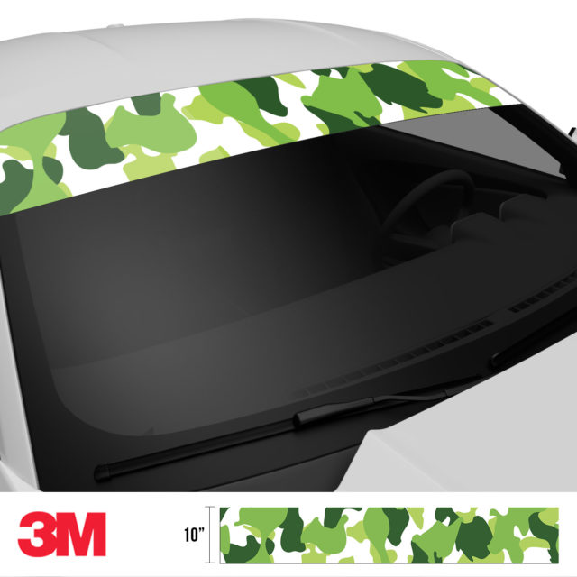 Tropical Green Camo Windshield Sun Strip Side 2