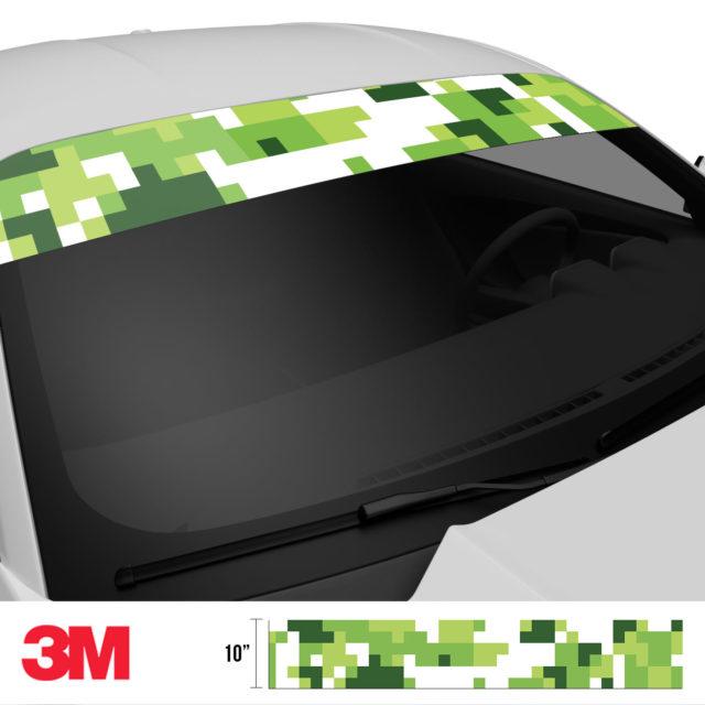 Tropical Green Digital Camo Windshield Sun Strip Side 2