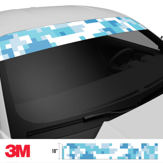 Turkish Blue Digital Camo Windshield Sun Strip Side 2