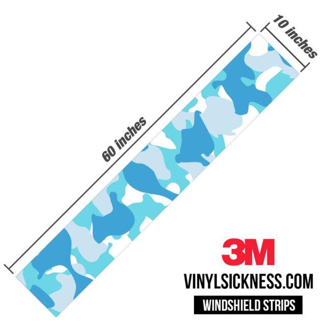 Turkish Blue Windshield Sun Strip Dimension