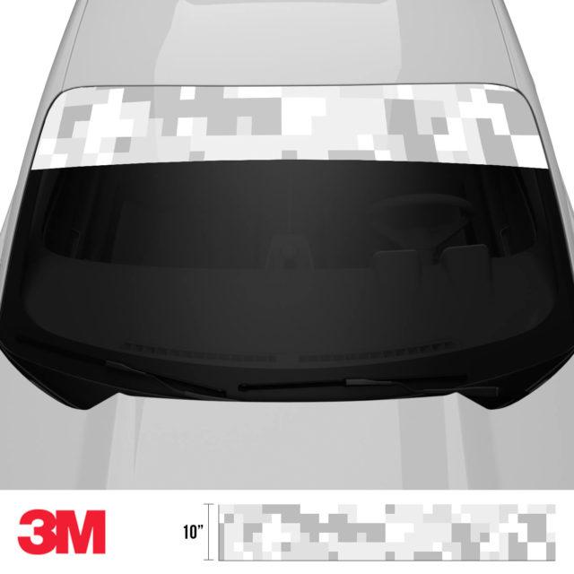 Warm Grey Digital Camo Windshield Sun Strip Front 2