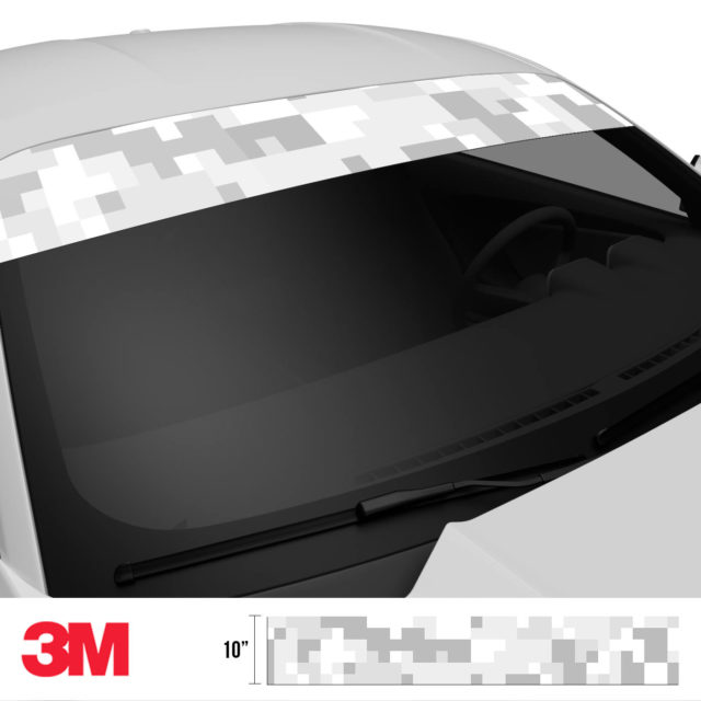 Warm Grey Digital Camo Windshield Sun Strip Side 2
