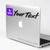 Custom Byte Color Social Tag Sticker Decal Mac Laptop