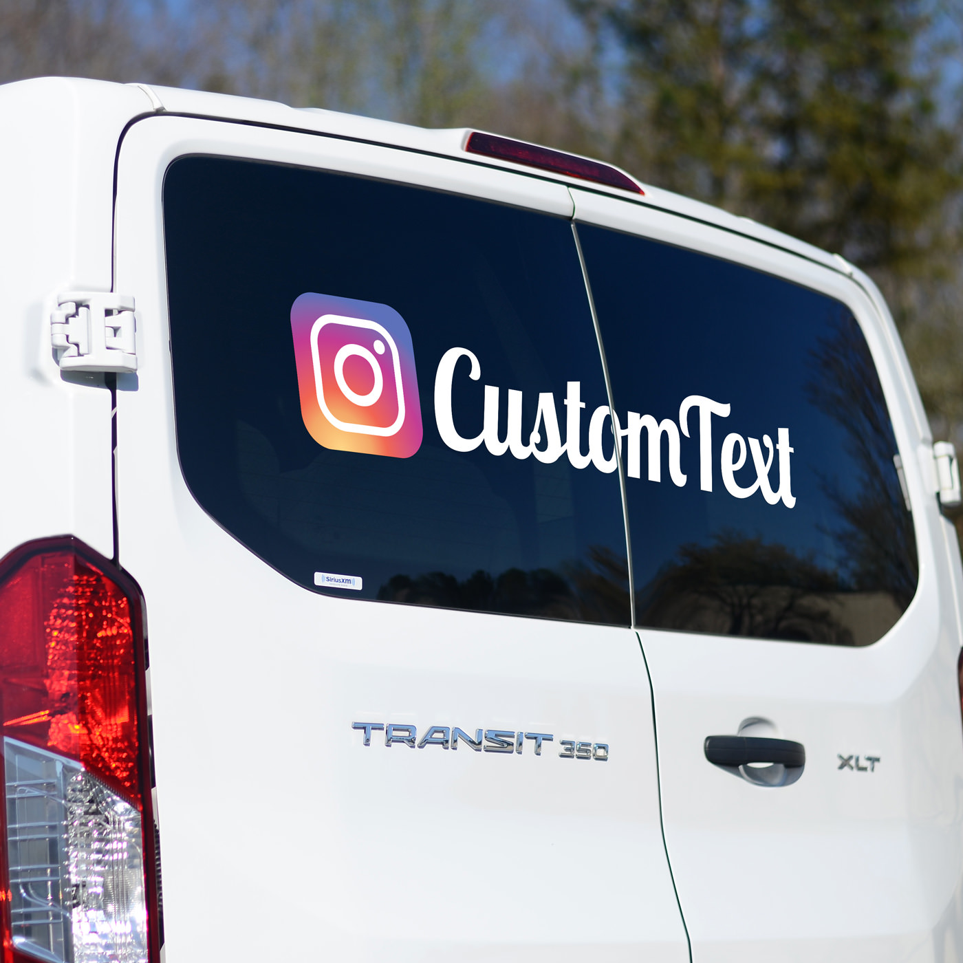 Custom instagram social sticker tag business car custom instagram social sticker tag business car