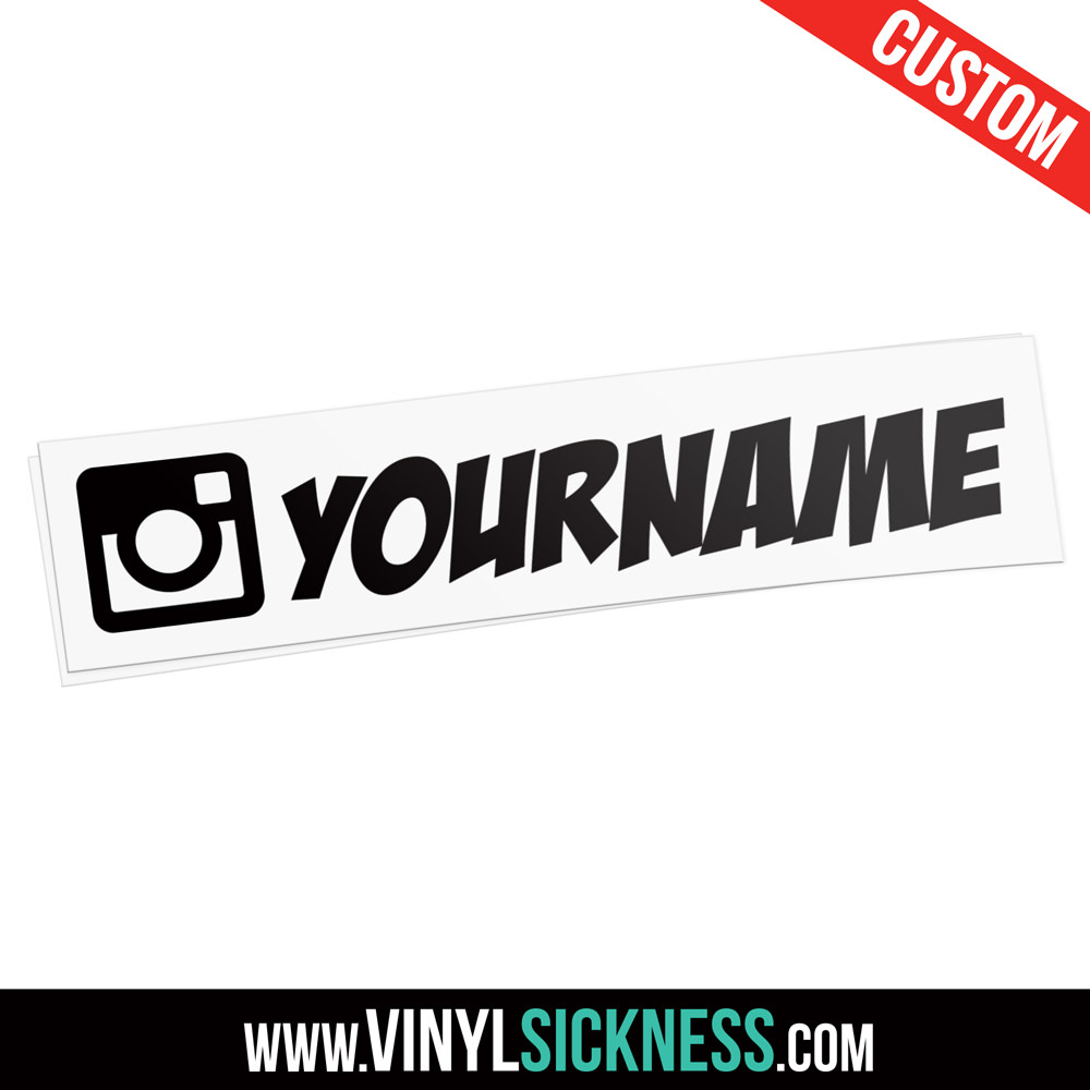 Custom instagram username social sticker decal custom instagram username social sticker decal
