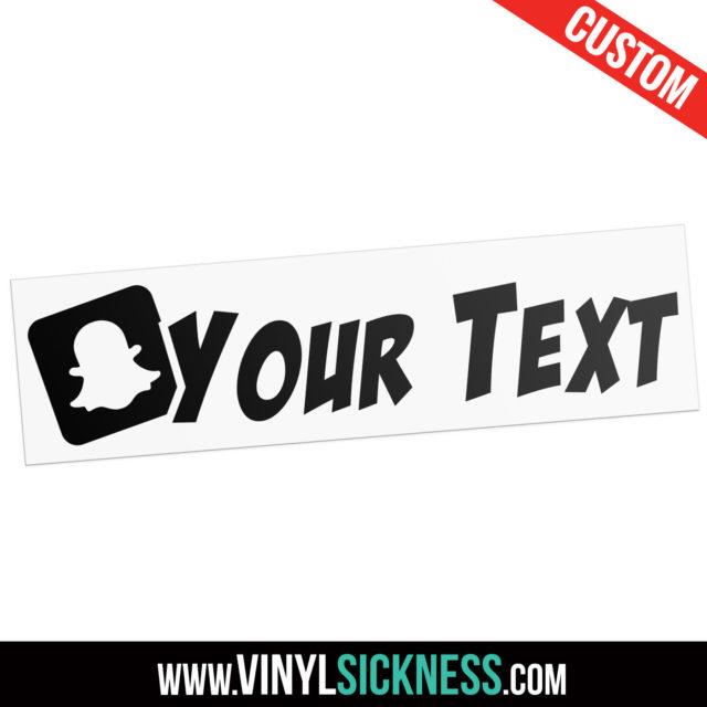 Custom Snapchat Boxed Slanted Social Tag Sticker Decal Main