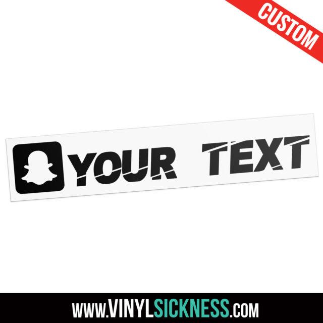 Custom Snapchat Boxed Social Tag Sticker Decal Main