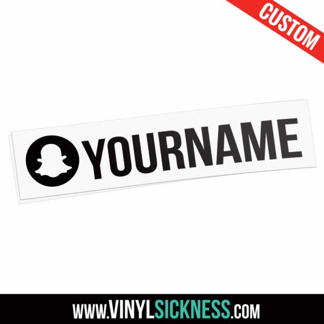 Custom Snapchat Username Round