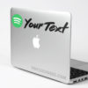 Custom Spotify Color Social Tag Sticker Decal Mac Laptop