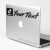 Custom Tiktok Color Social Tag Sticker Decal Mac Laptop