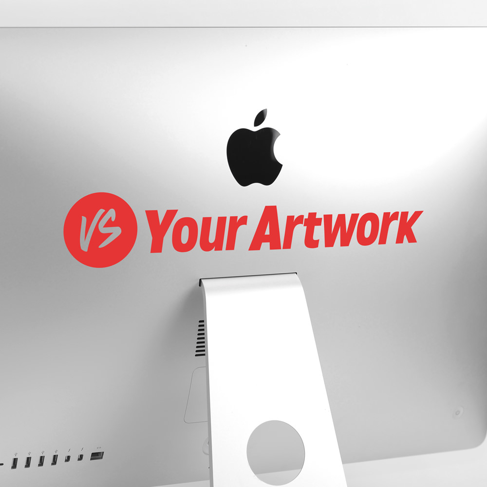 Custom transfer sticker imac