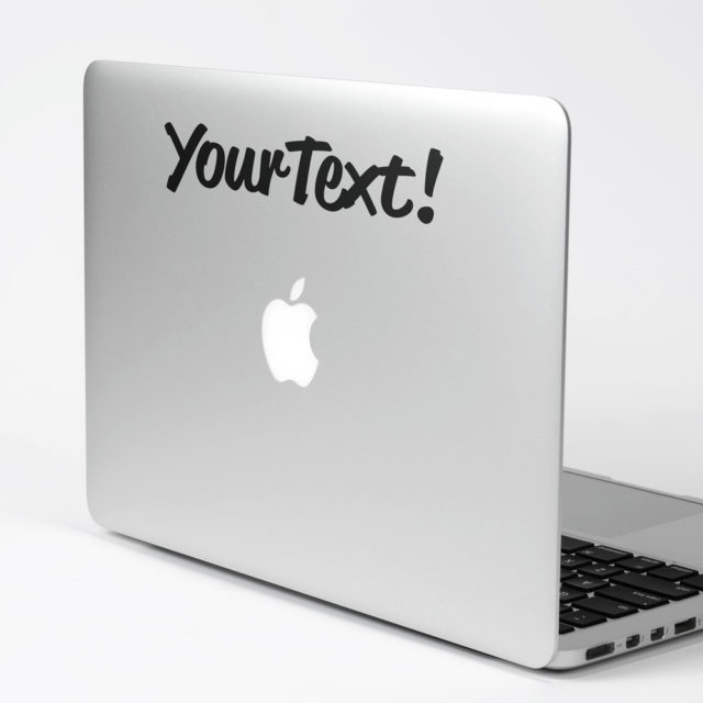 Custom Transfer Sticker Text Macbook