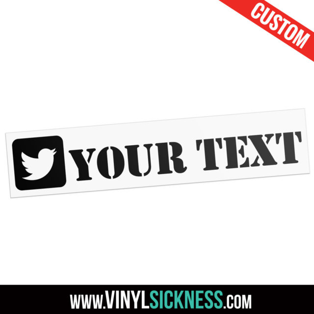 Custom Twitter Boxed Social Tag Sticker Decal Main