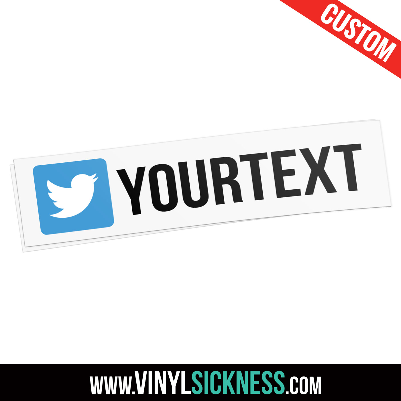 Custom twitter social sticker tag main