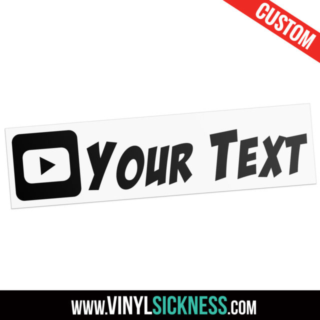 Custom Youtube Icon Boxed Social Tag Sticker Decal Main