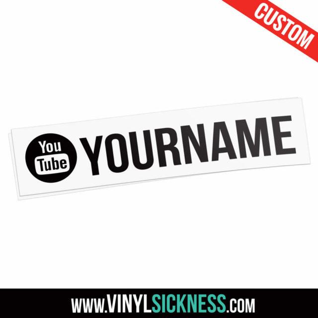 Custom Youtube Username Alt Round