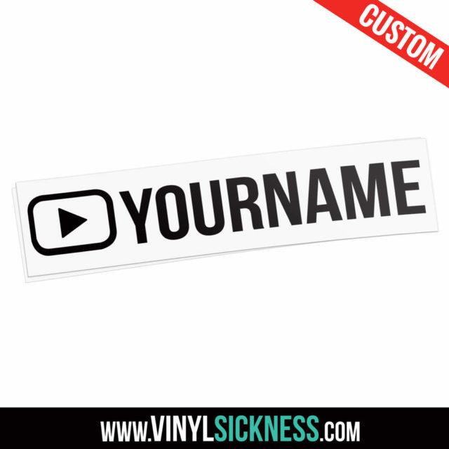 Custom Youtube Username Outline