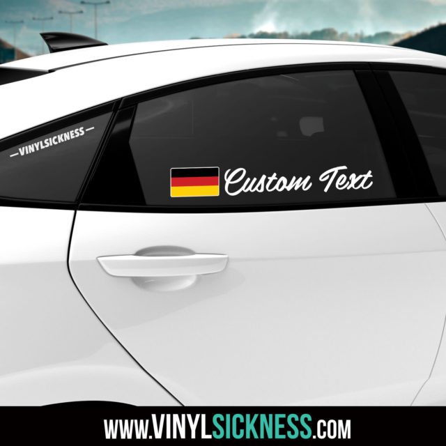 Germany Custom Text Sticker Decal Car Tinted Window