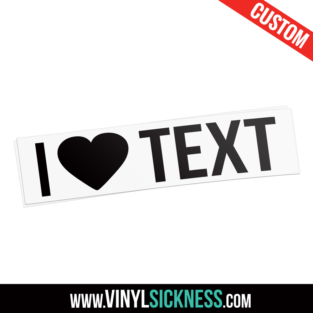 Custom i heart text