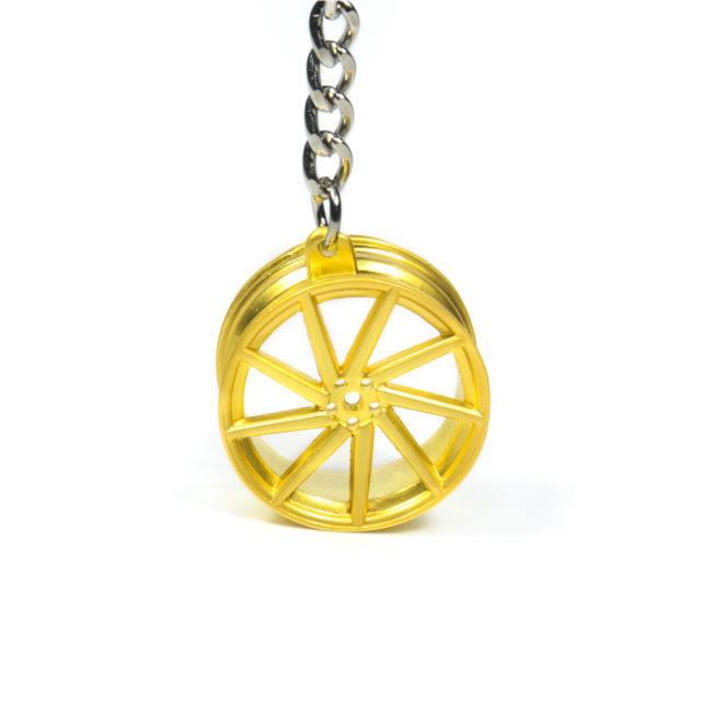 Gold Rim Jdm Keychain 3