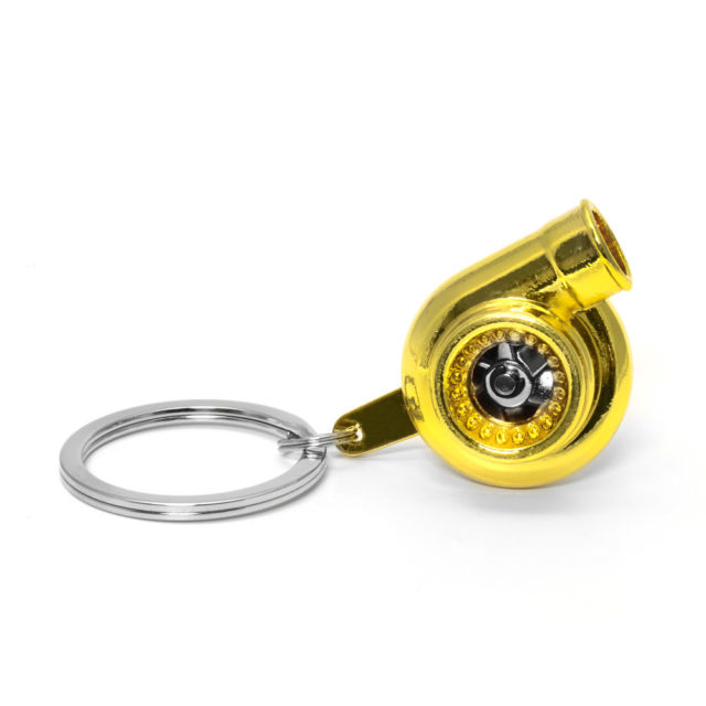 Turbo Gold Jdm Tuner Keychain