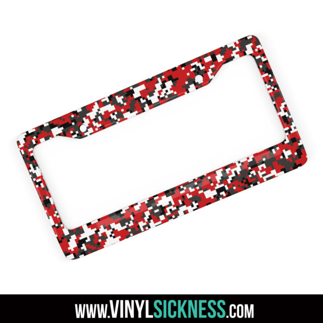 Chili Stone Digital Camo License Frame Main