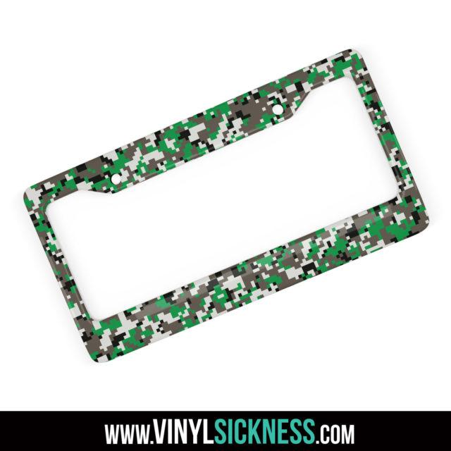 Green Ash Digital Camo License Frame Main