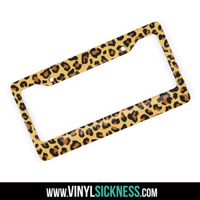 Jdm Tuner Premium Leopard Skin License Frame