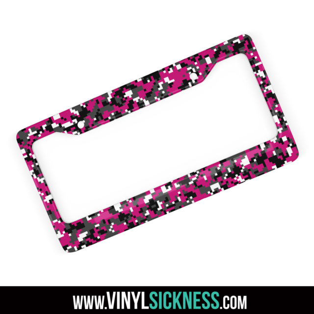 Midnight Magenta Digital Camo License Frame Main
