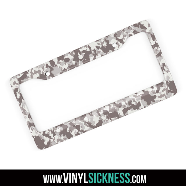 Smokey Taupe Camo License Frame Main
