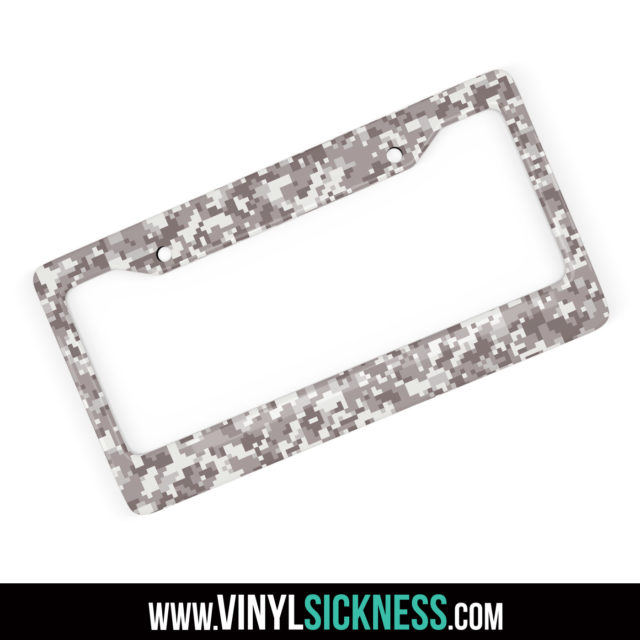 Smokey Taupe Digital Camo License Frame Main