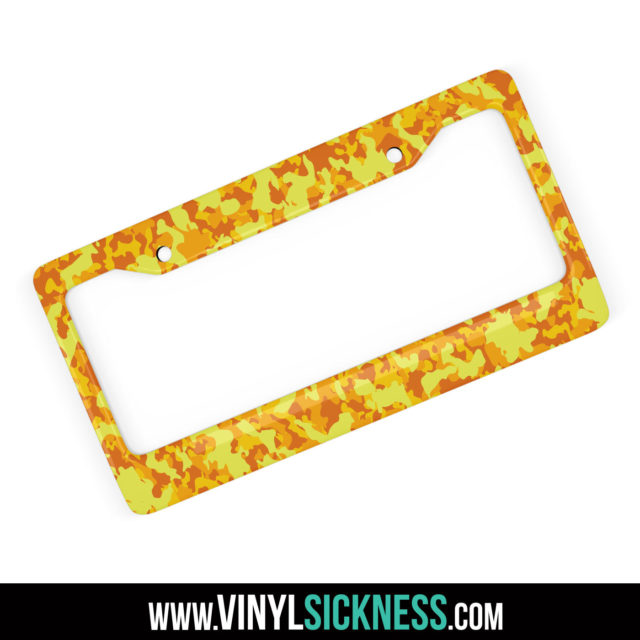 Sunshine Yellow Camo License Frame Main