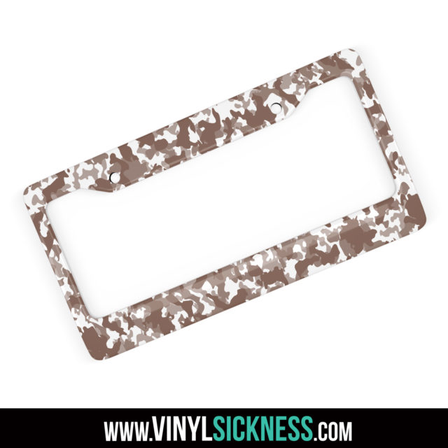 Wild Saddle Camo License Frame Main