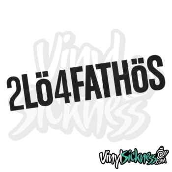 2 Low 4 Fat Hoes Jdm Sticker / Decal