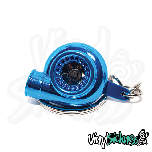 Metallic Blue Turbo Keychain 5
