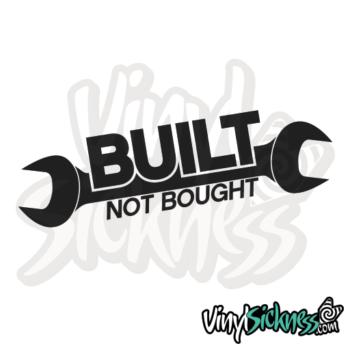 Built Not Bought Jdm Sticker / Decal