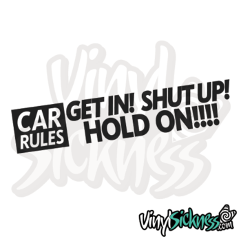 Car Rules Jdm Sticker / Decal