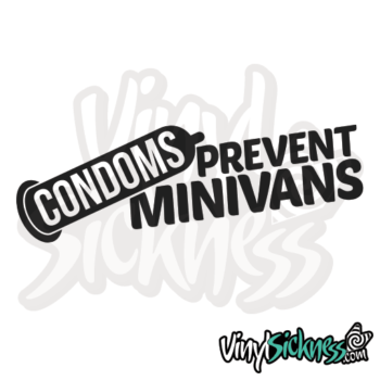 Condoms Prevents Minivans Jdm Sticker / Decal