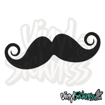 Curly Mustache Jdm Sticker / Decal
