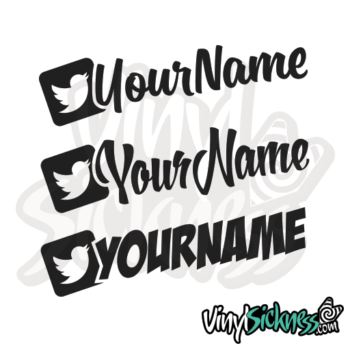 Custom Twitter Username Jdm Car Vinyl Sticker / Decal