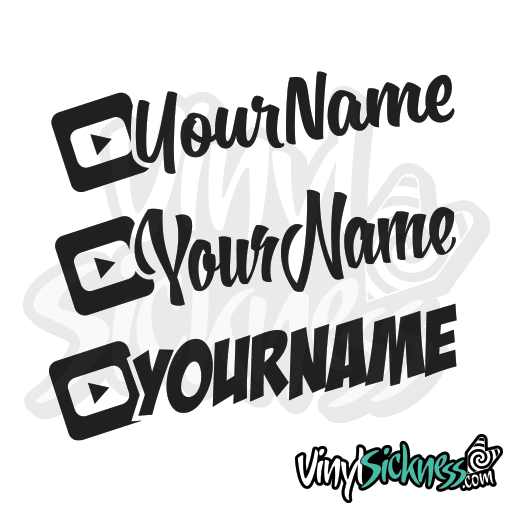Custom Youtube Username Stickers Decals