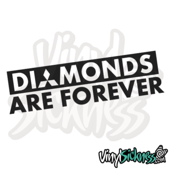 Diamonds Are Forever Jdm Sticker / Decal