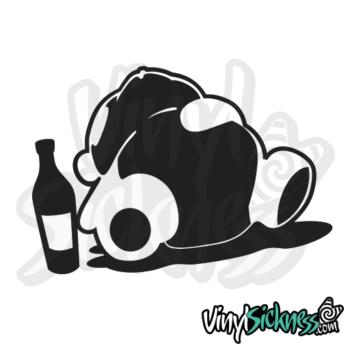 Drunk Panda Jdm Sticker / Decal