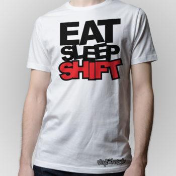 Eat Sleep Shift White Jdm Tuner Shirt