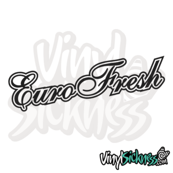 Euro Fresh Outline Jdm Sticker / Decal