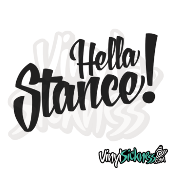 Hella Stance V2 Jdm Sticker / Decal